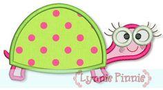 Turtle Girl Applique (2) 4x4 5x7 6x10