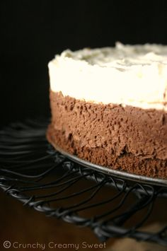 Triple Chocolate Mousse Cake CrunchyCreamySweet.com