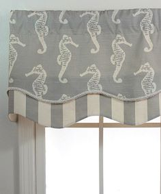 Look at this #zulilyfind! Gray Ocean Filly Glory Valance Panel by RLF Home #zulilyfinds