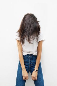 classic blue jeans and white tee//