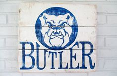 Butler University Sign by VintageSignDesigns on Etsy