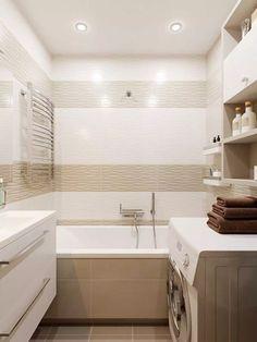 in beige tones . in beige colors – photo - Bathroom Design Luxury, Bathroom Design Small, Simple Bathroom, Bath Design, Modern Bathroom, Small Attic Bathroom, Big Bathrooms, Blue Bathroom Paint, Apartment Interior