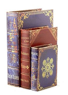 Floral Book Box Flux books Set of three 1310 7 inches *** Check out the image by visiting the link.