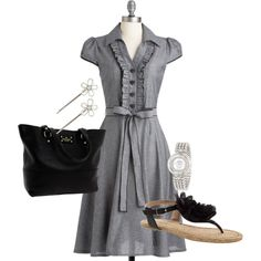 """""""classy lady"""" by bjmartin on Polyvore  Cute Dress"""