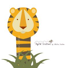 Tiger Digital Clipart by CollectiveCreation on Etsy