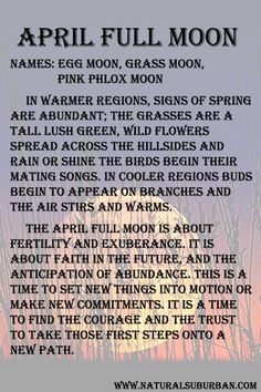 Moon:  #Full #Moon ~ April.