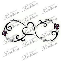 50 More tattoo ideas incorporating children& names - - tattoo-ideen mit kindernamen Tattoos For Childrens Names, Mother Tattoos For Children, Tattoos With Kids Names, Kid Names, Tattoos For Women, Children Names, Infinity Tattoo With Names, Infinity Tattoo Designs, Family Tattoos With Names