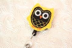 adorable owl  professional nursing badge holder  by DefinitelyYou, $6.00