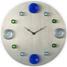 Recycled Wine Bottle Oversized Wall Clock from Green Nest Guide
