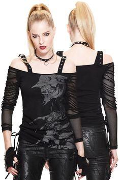 Devil Fashion Kraven Fishnet Long Sleeve Top