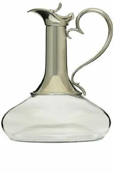 GORGEOUS PEWTER & CRYSTAL WINE PORT DECANTER (299×450)