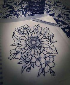 Resultado de imagen de girasol tattoo tumblr