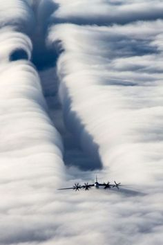 ..the joy of flying formation... seeing what you do to the clouds!