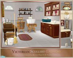 It is washday and you are anxious to try out your new fangled washer machine. Victorian Sims will appreciate the ease and timesaving features of a vintage washer machine, trash compactor, and other...