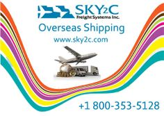Overseas Shipping Service from USA to India by Sky2c Freight Systems Inc.