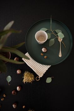 Green flat lay with fal vibes