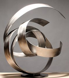 damon hyldreth KNOT #53S Stainless Steel, Steel 32 x 32 x 19 in 2013 edition 7