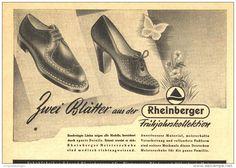 Original-Werbung/Inserat/ Anzeige 1951 - RHEINBERGER SCHUHE - ca. 140 X 95 mm