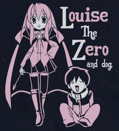 The Familiar of Zero No Tsukaima Louise and Saito T-shirt tee Tshirt