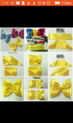 Diy Hair Bows Bow Hair Clips Flower Video Hair Bow Tutorial How To Make Ribbon Diy Hair Accessories Girls Bows Amigurumi Hairbows Ribbon Hair Bows, Diy Hair Bows, Diy Ribbon, Bow Hair Clips, Ribbon Crafts, Diy Crafts, Pinwheel Bow, Hair Bow Tutorial, Gift Bows