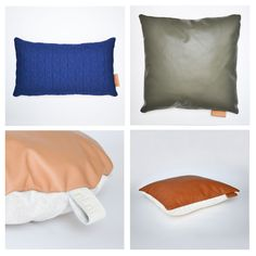 ni.ni.creative Kumo and Tab cushions in leather and fabrics from Dutch and…