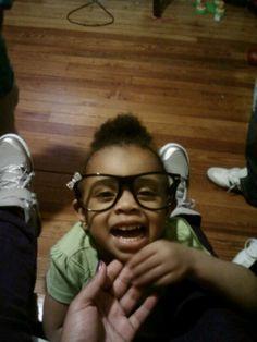 She stole my glasses...lol