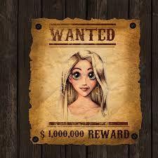 Risultati immagini per rapunzel wanted poster Rapunzel And Flynn, Poster, Art, Meet, Art Background, Kunst, Performing Arts, Billboard, Art Education Resources