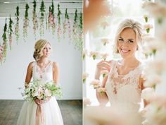 floral wedding decor - photo by Lindsey Orton Photography http://ruffledblog.com/romantic-bridal-inspiration-shoot
