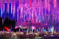 Ice Palace | #radiantorchid #wedding #icesculpture