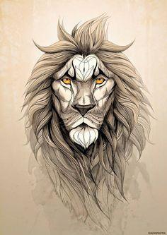 Image of Pack pareja de láminas grandes (ciervo y león)