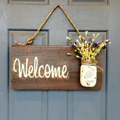 Outdoor Welcome Sign - Red Roan Signs | Scott's Marketplace