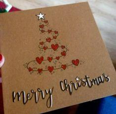 80 cartes de Noël au meilleur de Wurschteln et Wurschteln – très chic – – Christmas DIY Holiday Cards Diy Holiday Cards, Christmas Card Crafts, Homemade Christmas Cards, Xmas Cards, Christmas Art, Homemade Cards, Handmade Christmas, Christmas Projects, Watercolor Christmas Cards