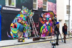 Louis Masai and Hunto - Londres - Turville street - Juillet 2013