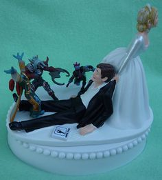 wow wedding cake topper wedding cake topper world of warcraft wow 1 by 27659