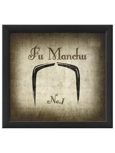 Fu Manchu Moustache Print - man cave art