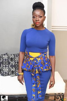 Lucie Memba takes Ankara to a whole new level with La Fée Lucie African Dresses For Women, African Print Dresses, African Print Fashion, African Fashion Dresses, African Attire, African Wear, African Women, Ankara Gown Styles, Ankara Dress