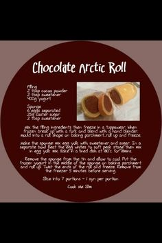 Slimming World chocolate arctic roll