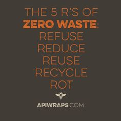 This helps you to keep in mind the five #zerowaste tactics.