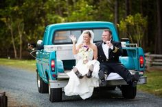 Pick Up Truck At Wedding
