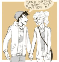percy ruins every date with annabeth by continuously bringing up ways he could have beat jason in kansas   art by thominhoandnewt
