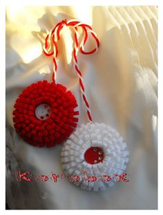 Craft Stick Crafts, Diy And Crafts, Baba Marta, Crochet Crafts, Crochet Clothes, Christmas Crafts, Crochet Earrings, Bulgaria, Jewelry