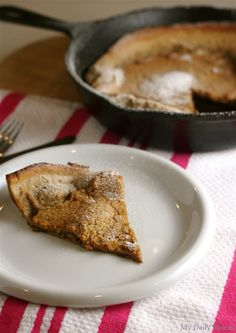 "Deb Perelman's Gingerbread Spice Dutch Baby via this blog, ""My Daily Morsel""."