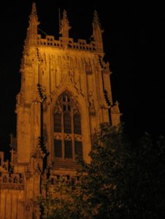 York Minster,Central Tower at night