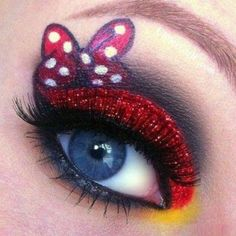 Mini Mouse Eye Art - 3disney #minimouse #eyemakeup #eyeart - bellashoot.com