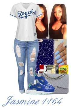 """Royals"" by jasmine1164 ❤ liked on Polyvore featuring Casetify, NIKE and Majestic"