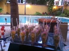 Finger food idea with Cevice fish