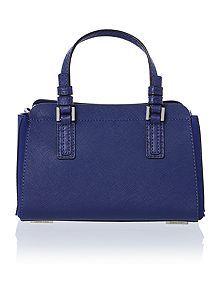 Sofie blue mini duffle bag