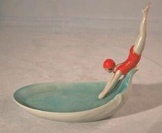 Art deco soap dish