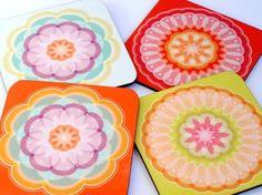 Mandala pastel coasters. So pretty.