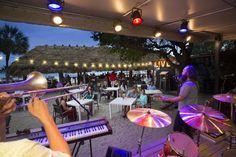 Beachfront live music at Tiki Hut